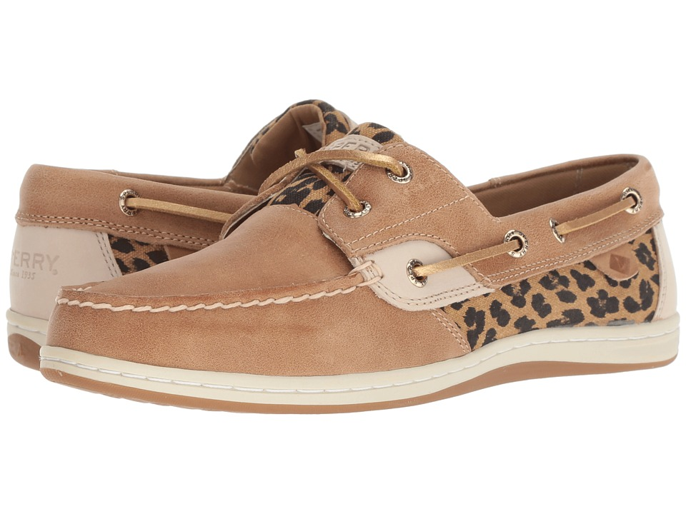 Sperry Koifish Cheetah (Linen) Women's Lace Up Moc Toe Shoes