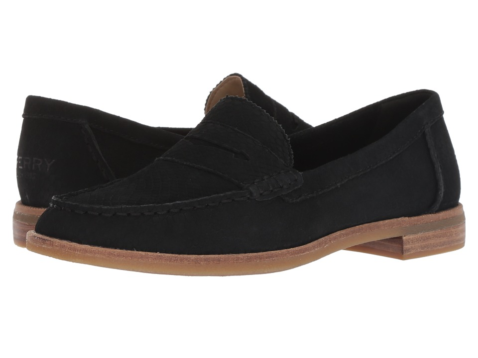 Sperry Seaport Penny Snake (Black) Slip-On Shoes