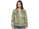 Levi's(r) Printed Cotton Camo Four-Pocket Uneven Hem Shirt Jacket