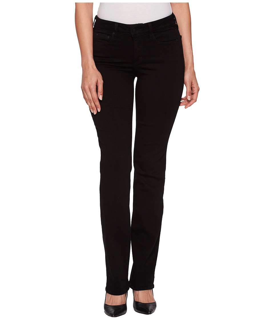 NYDJ - Marilyn Straight in Black (Black) Womens Jeans