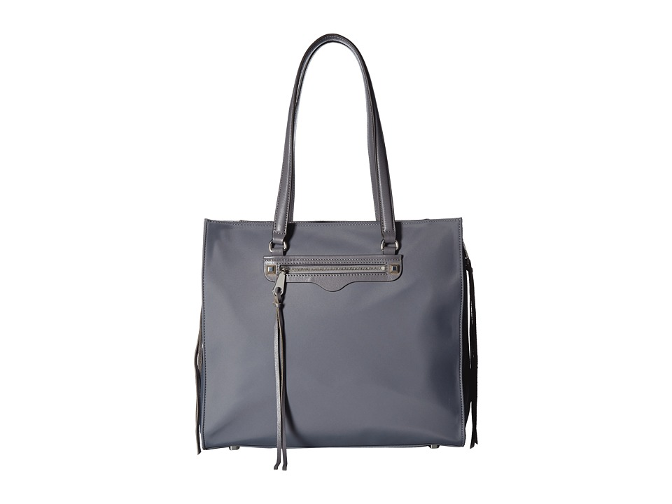 Rebecca Minkoff - Always On Side Zip Regan Tote (Grey) Tote Handbags