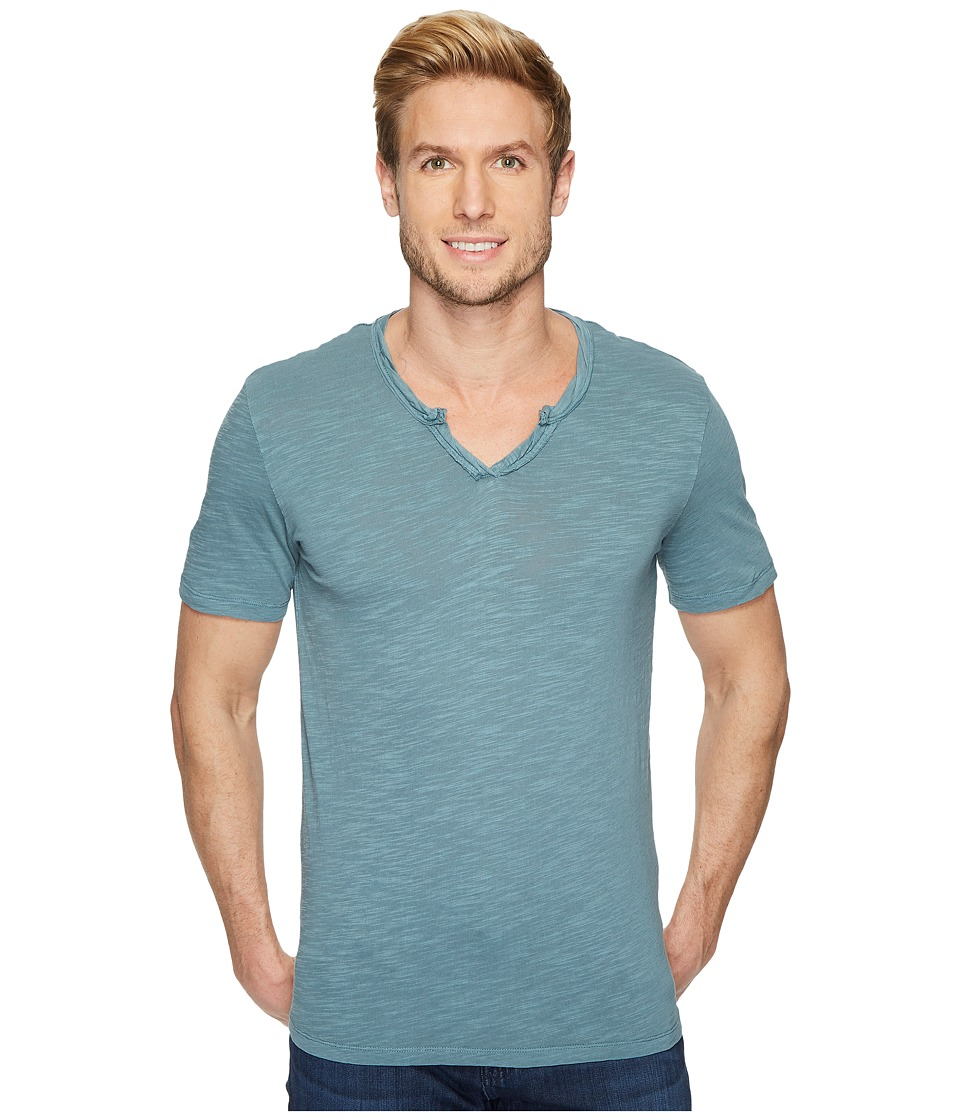 Mod-o-doc - Topanga Short Sleeve Notch V-Neck Tee (Oasis) Mens T Shirt