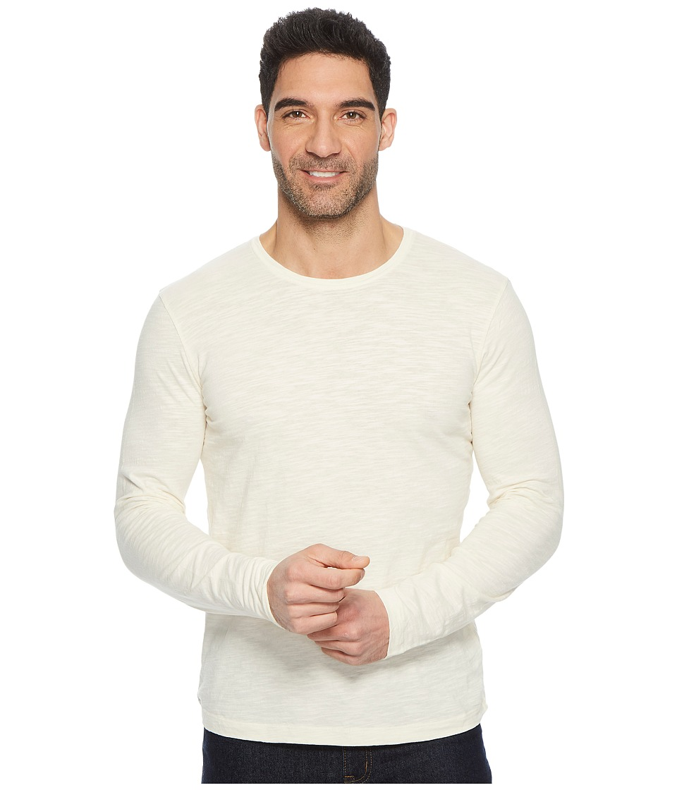 Mod-o-doc - Venice Long Sleeve Slub Jersey Crew Tee (Vanilla) Mens T Shirt