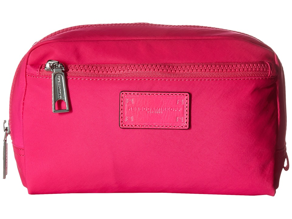 Rebecca Minkoff - Nylon Cosmetic Pouch (Magenta) Wallet Handbags