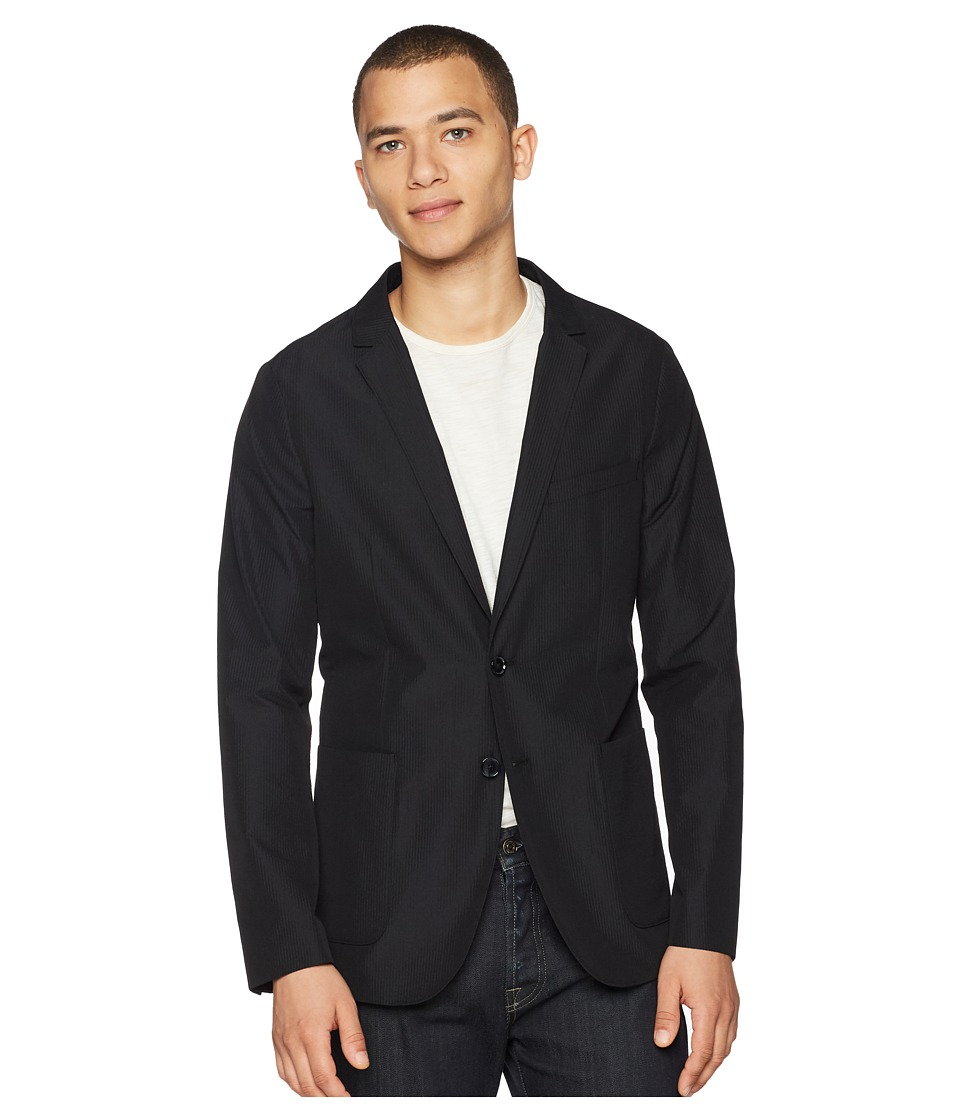 Calvin Klein - Seersucker Packable Blazer (Black) Mens Jacket