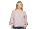 Lucky Brand Plus Size Embroidered Off the Shoulder Top