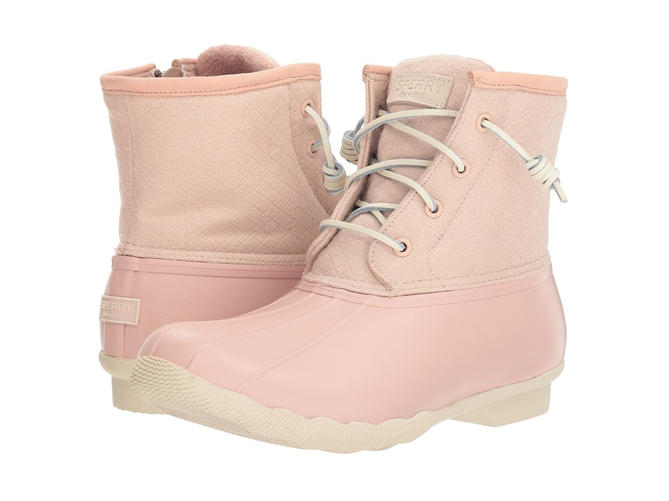 Sperry Saltwater Emboss Wool (Rose Dust) Women's Rain Boots