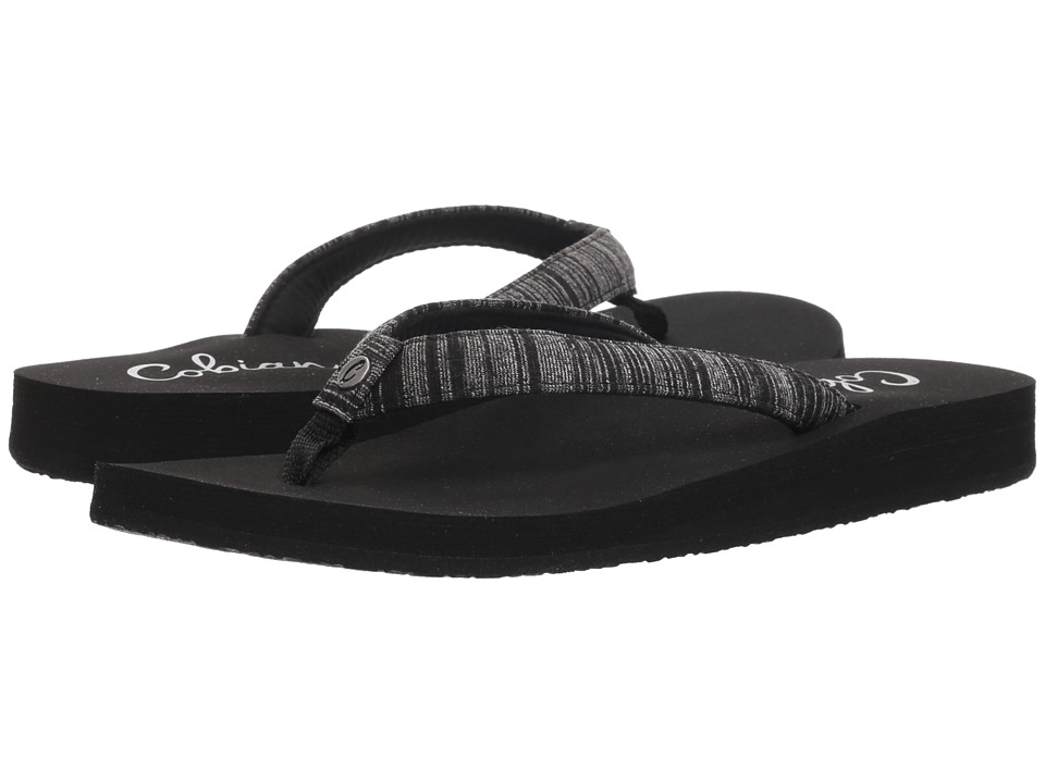 Cobian Fiesta Skinny Bounce (Black Heather) Sandals