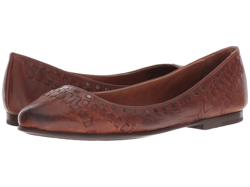 Frye Carson Whip Stud (Cognac Antique Pull Up) Flats