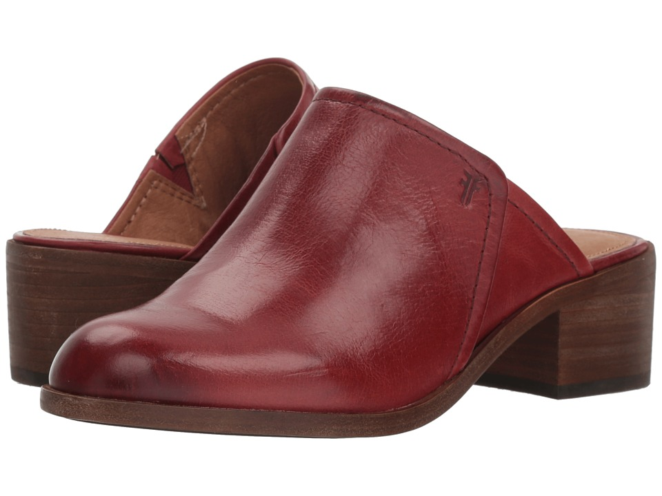 Frye Claire Mule (Red Clay Waxed Full Veg) Women's Clog/Mule Shoes