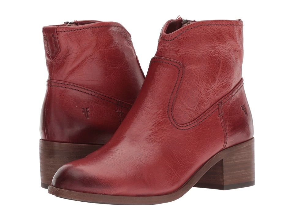 Frye Claire Bootie (Red Clay Waxed Full Veg) Women's Dress Pull-on Boots