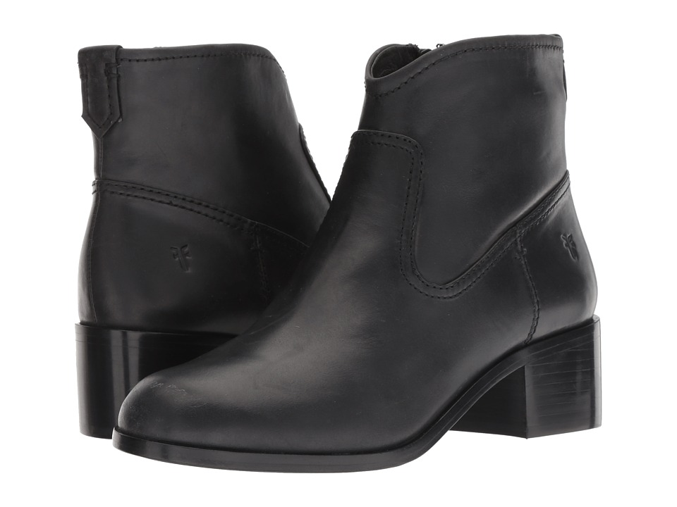Frye Claire Bootie (Black Waxed Pull Up) Women's Dress Pull-on Boots