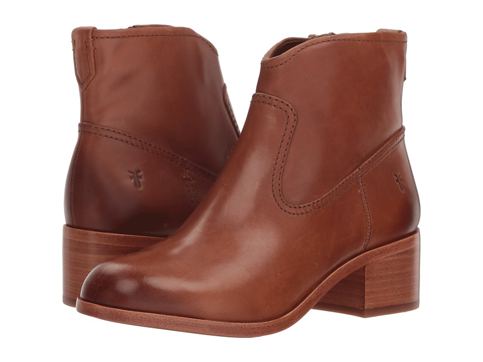 Frye Claire Bootie (Cognac Waxed Pull Up) Women's Dress Pull-on Boots