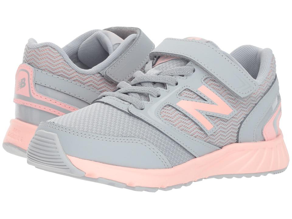 New Balance Kids KA455v1Y (Little Kid/Big Kid) (Quarry/Himalayan Pink) Girls Shoes
