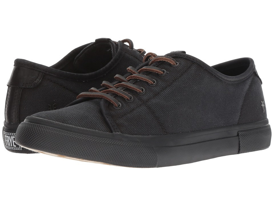 Frye Gia Canvas Low Lace (Black Canvas/Smooth Full Grain/Nubuck)