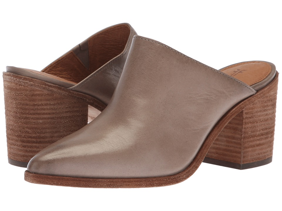 Frye Flynn Mule (Grey Polished Soft Full Grain) Women's Clog/Mule Shoes