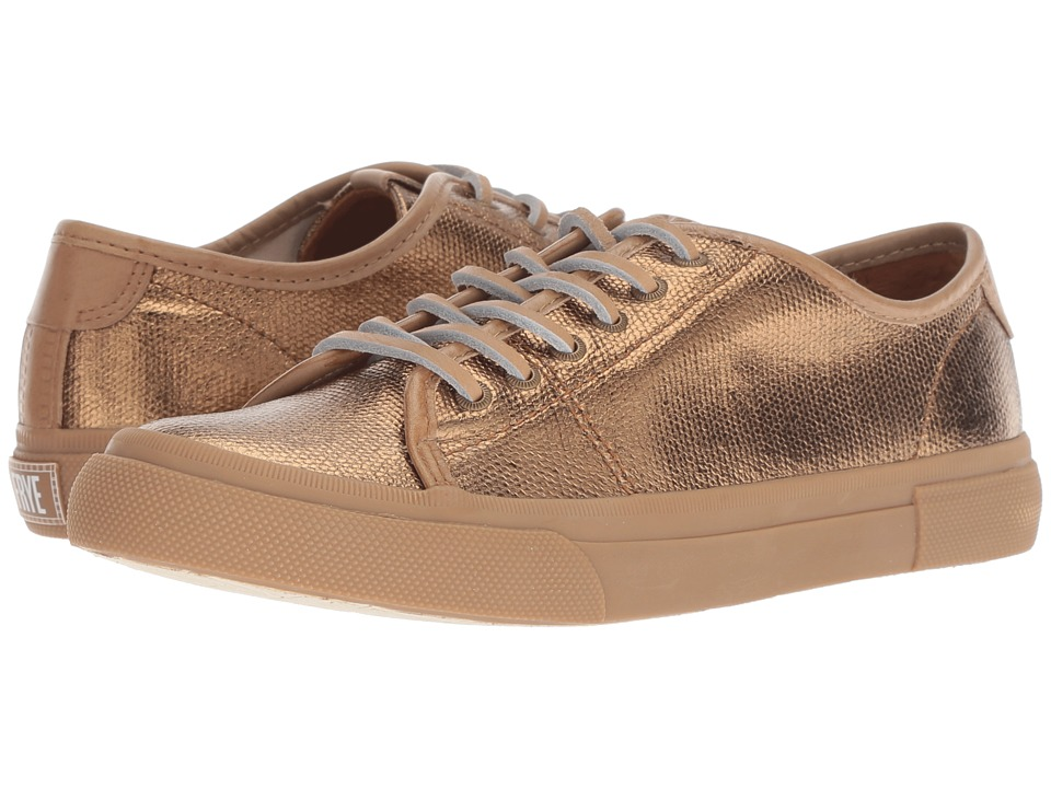 Frye Gia Canvas Low Lace (Bronze Metallic)