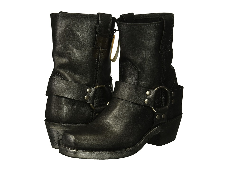 Frye Harness 8R (Black Multi Metallic Oiled Leather) Women's Pull-on Boots