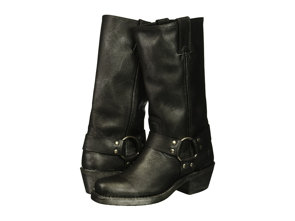Frye Harness 12R (Black Multi Metallic Oiled Leather) Women's Pull-on Boots