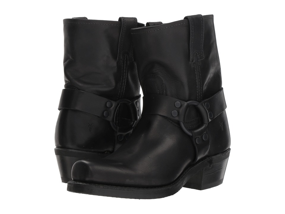 Frye Harness 8R (Black Antique Pull Up) Women's Pull-on Boots