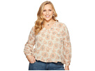 Lucky Brand Plus Size Exploded Floral Top