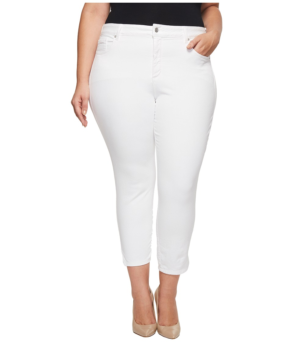 NYDJ Plus Size - Plus Size Ami Skinny Ankle w/ Slit Clean in Optic White (Optic White) Womens Jeans