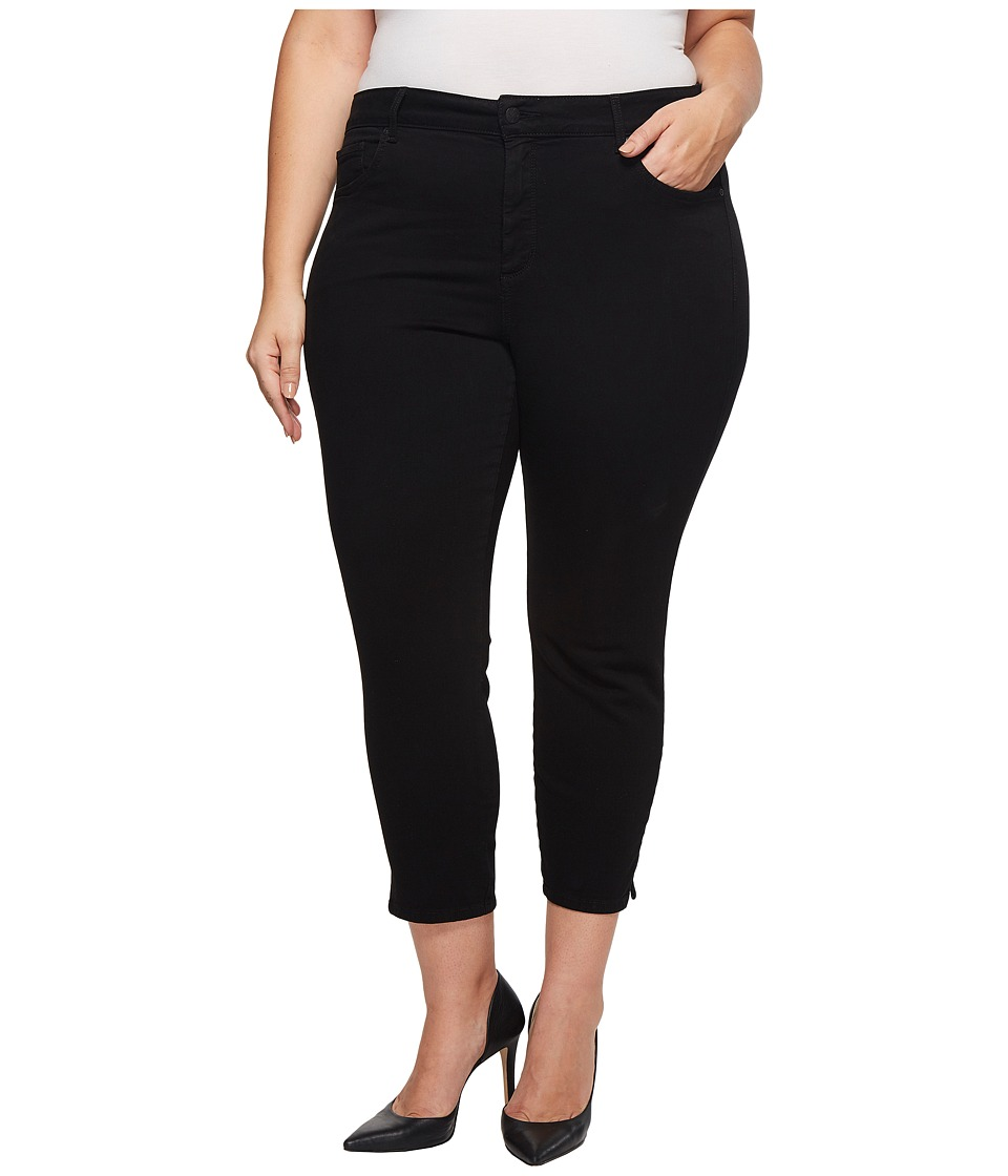 NYDJ Plus Size - Plus Size Ami Skinny Ankle w/ Slit Clean in Black (Black) Womens Jeans
