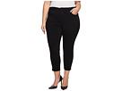 NYDJ Plus Size NYDJ Plus Size Plus Size Ami Skinny Ankle w/ Slit Clean in Black