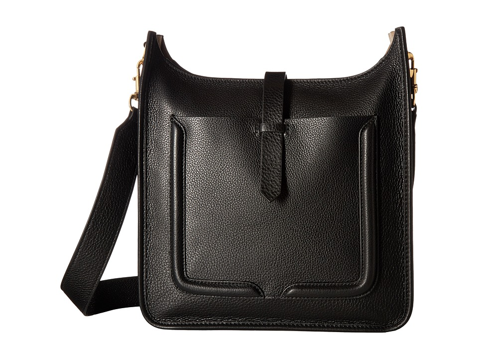 Rebecca Minkoff - Unlined Feed Bag (Black/Taupe) Bags