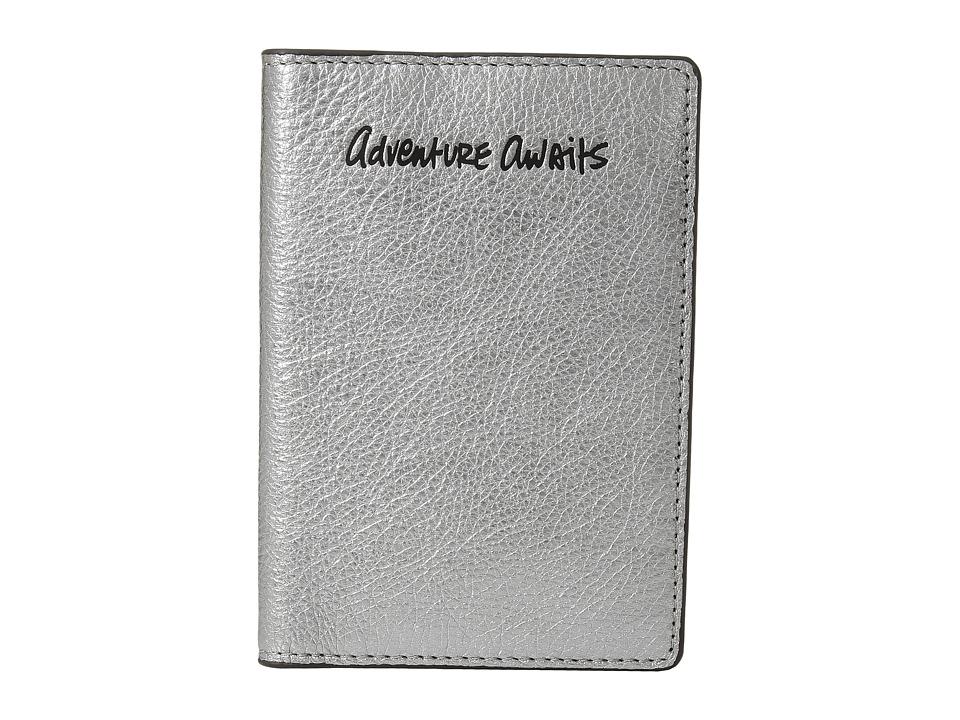 Rebecca Minkoff - Passport Case - Adventure Awaits (Anthracite) Wallet