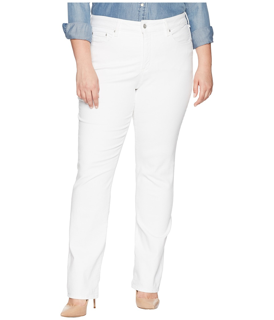 NYDJ Plus Size - Plus Size Marilyn Straight in Optic White (Optic White) Womens Jeans