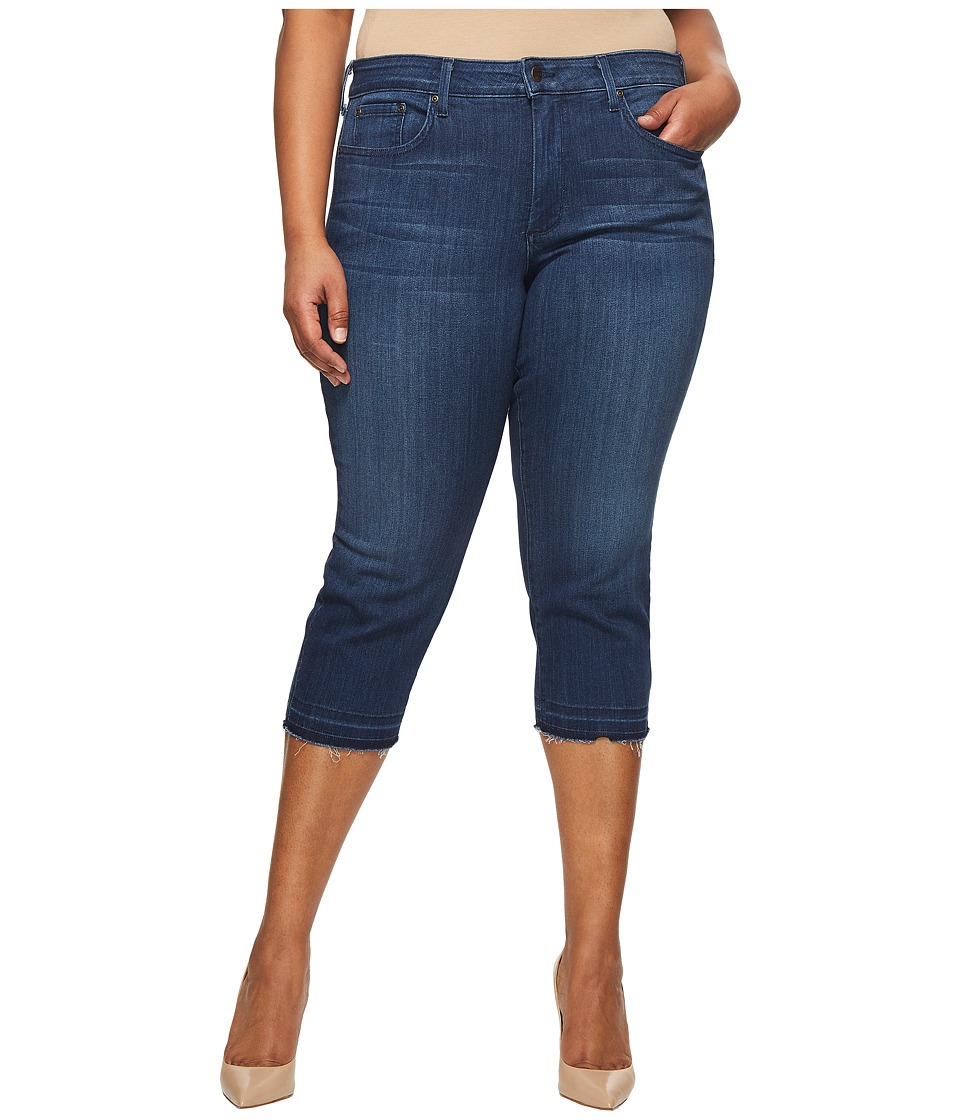 NYDJ Plus Size - Plus Size Capris w/ Released Hem in Lark (Lark) Womens Jeans