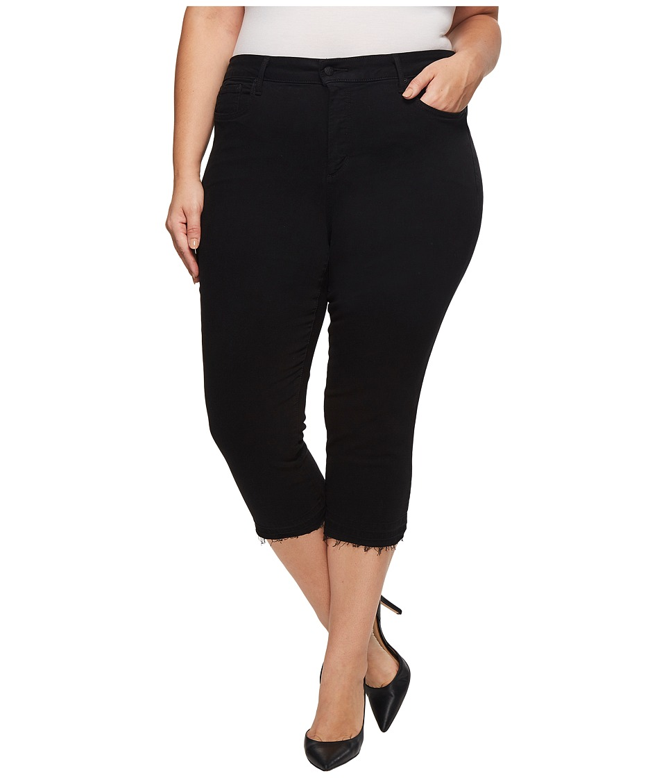 NYDJ Plus Size - Plus Size Capris w/ Released Hem in Black (Black) Womens Jeans