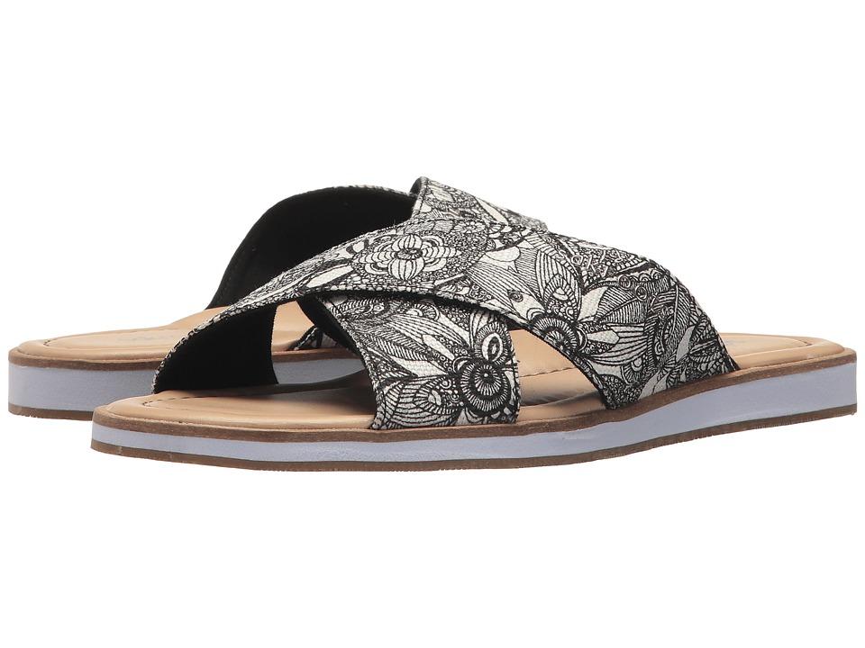 Sakroots - Calypso Flip-Flop (Black/White Spirit Desert) Womens Sandals