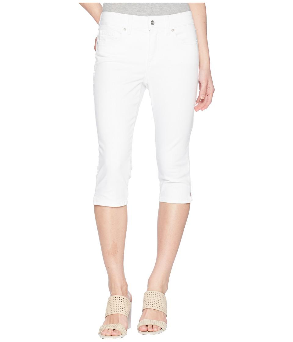 NYDJ Petite - Petite Skinny Capris in Optic White (Optic White) Womens Jeans