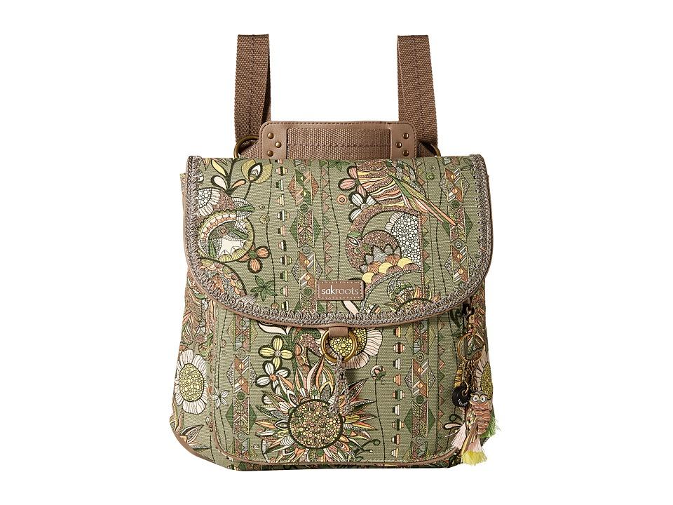 Sakroots - Convertible Backpack (Olive Spirit Desert) Backpack Bags