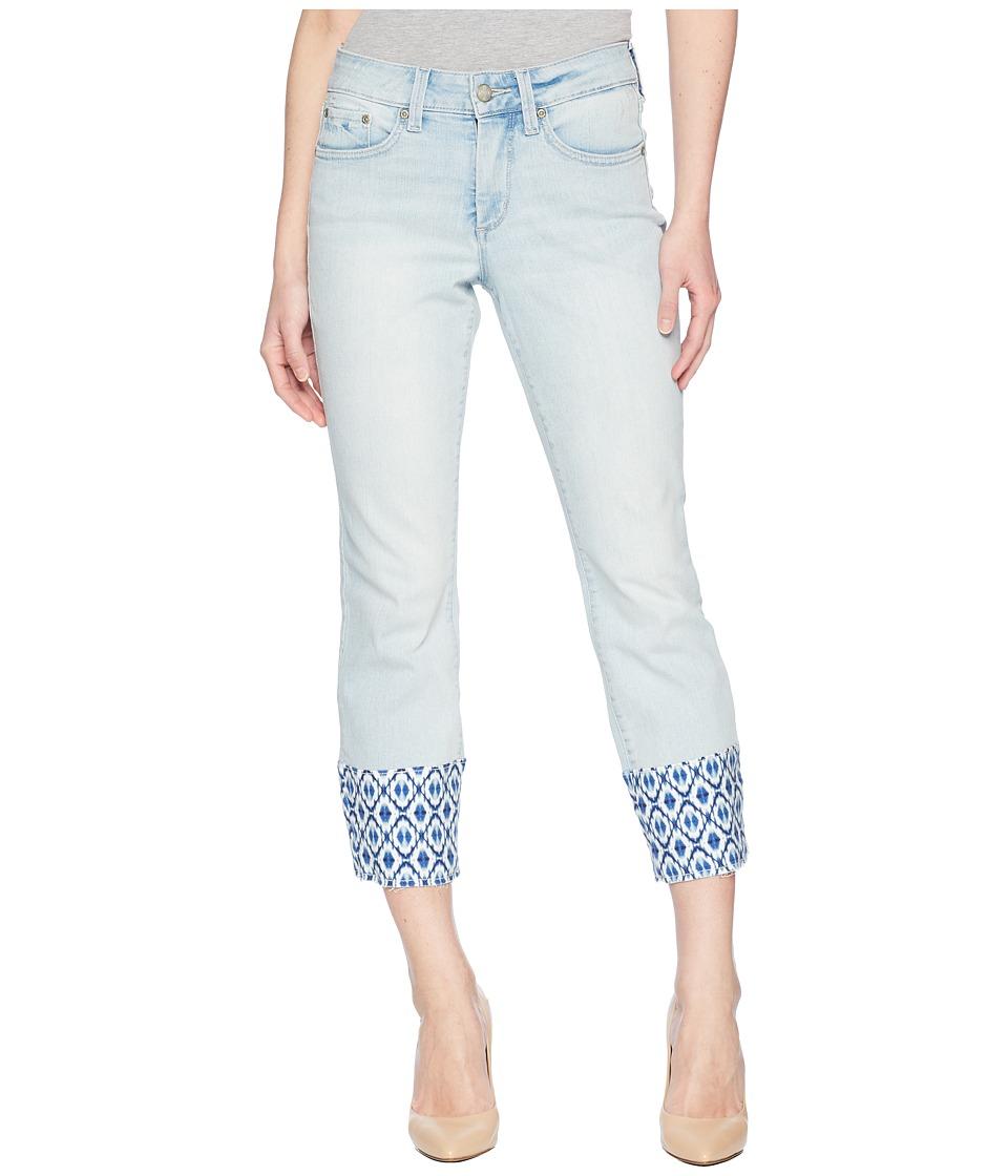 NYDJ Petite - Petite Sheri Slim Ankle w/ Printed Raw Hem in Palm Desert (Palm Desert) Womens Jeans