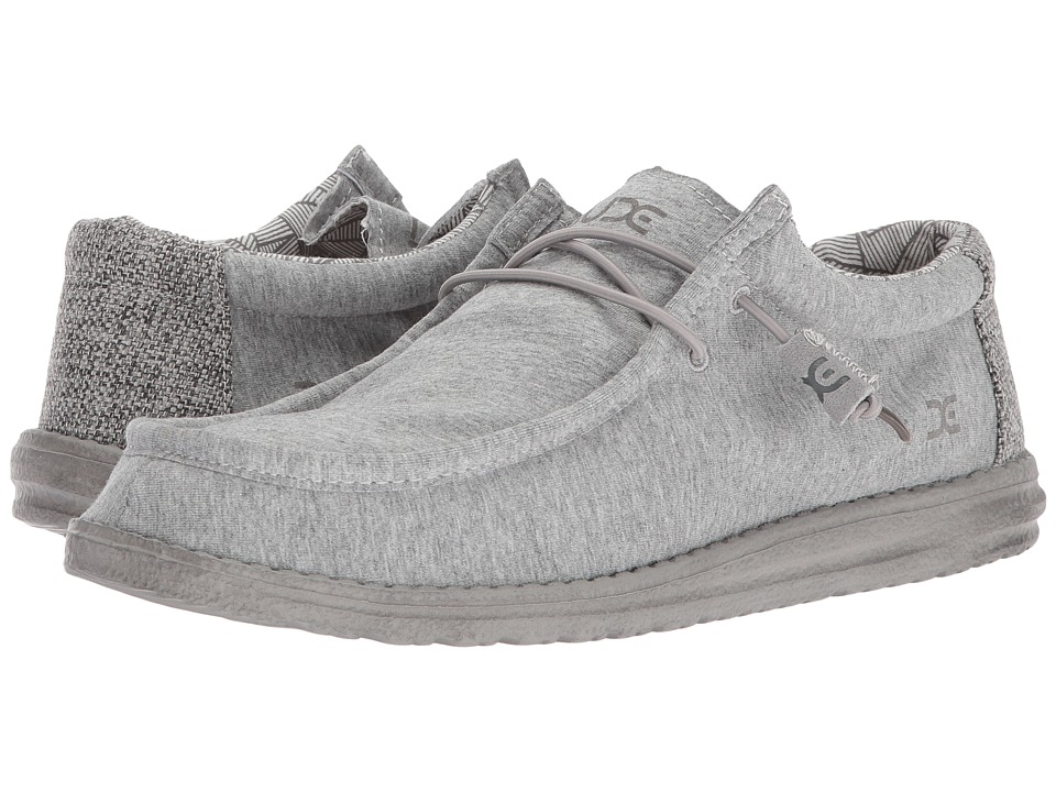 Hey Dude - Wally Stretch (Fleece Grey) Mens Shoes