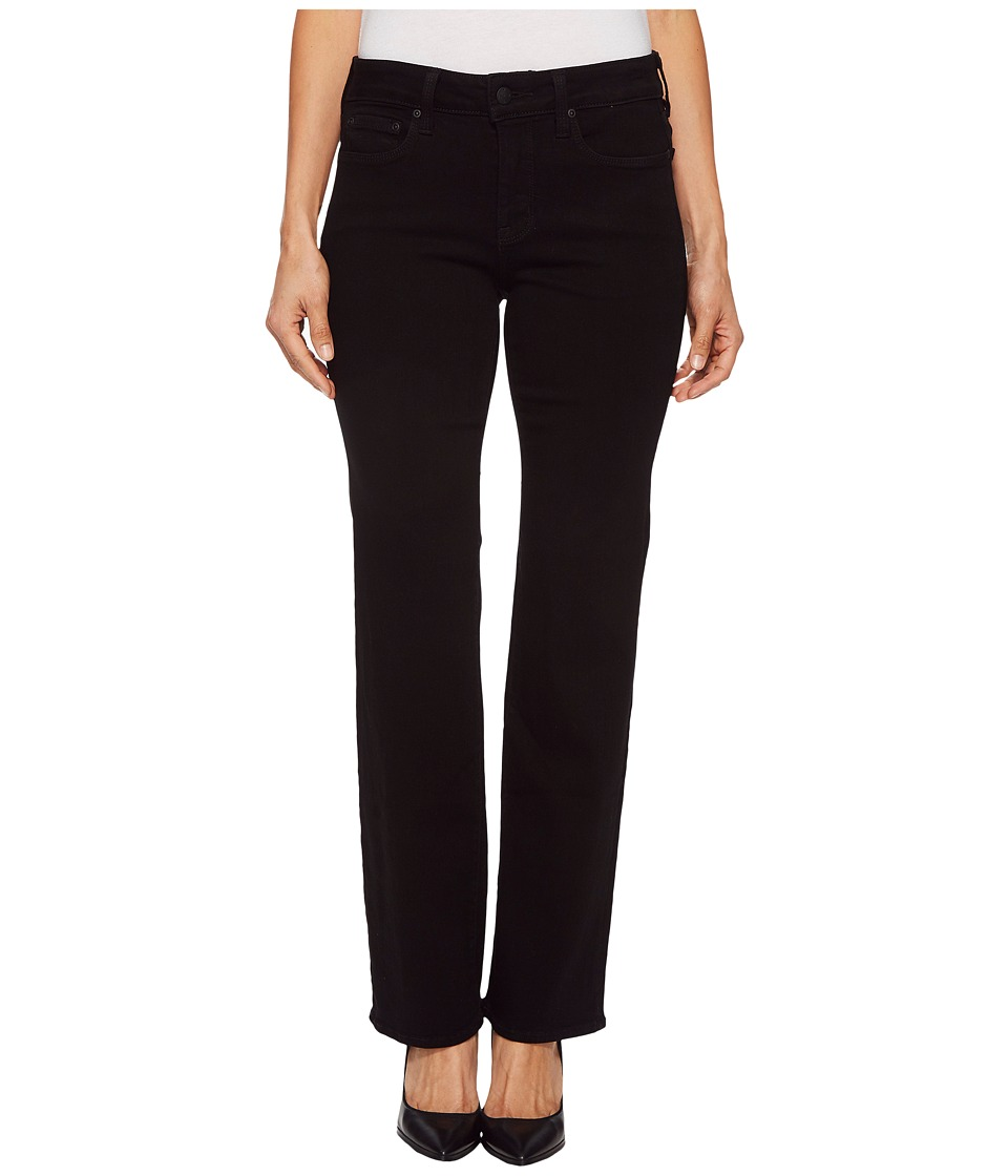 NYDJ Petite - Petite Marilyn Straight in Black (Black) Womens Jeans