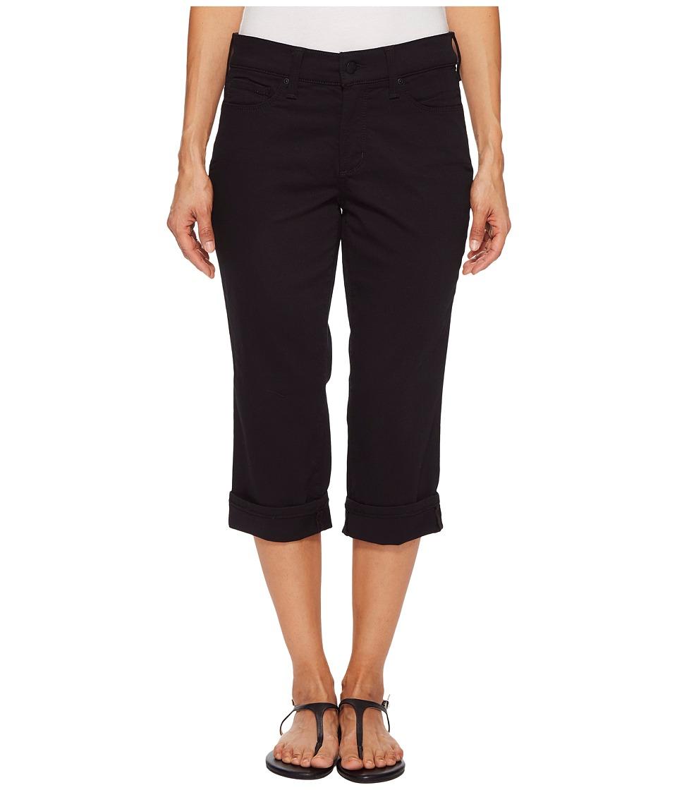 NYDJ Petite - Petite Marilyn Crop Cuff in Black (Black) Womens Jeans