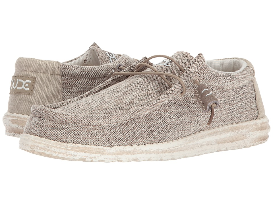 Hey Dude - Wally Woven (Beige) Mens Shoes