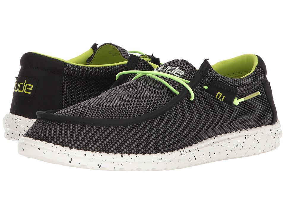 Hey Dude - Wally L Sox Funk (Black/Lemon) Mens Shoes