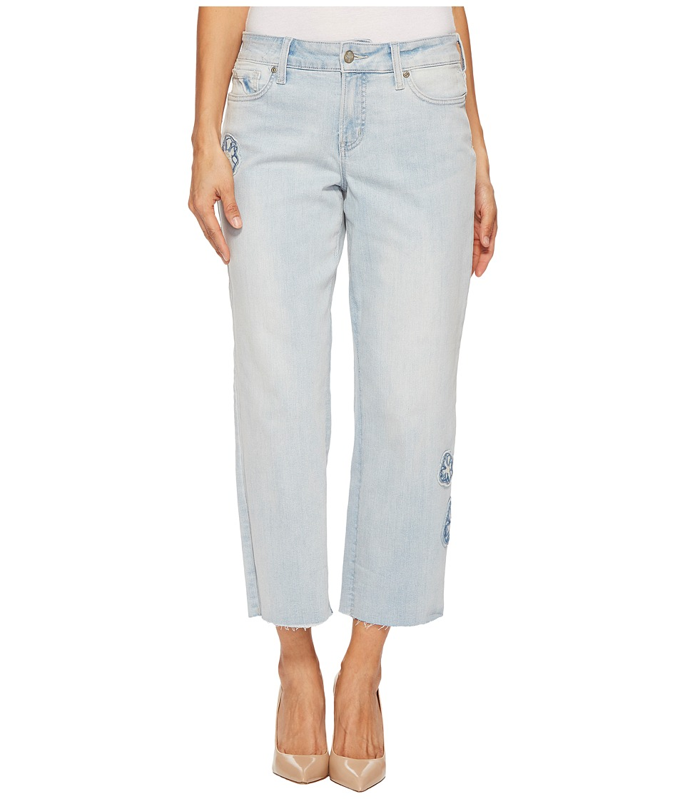NYDJ Petite - Petite Jenna Straight Ankle w/ Applique in Palm Desert (Palm Desert) Womens Jeans