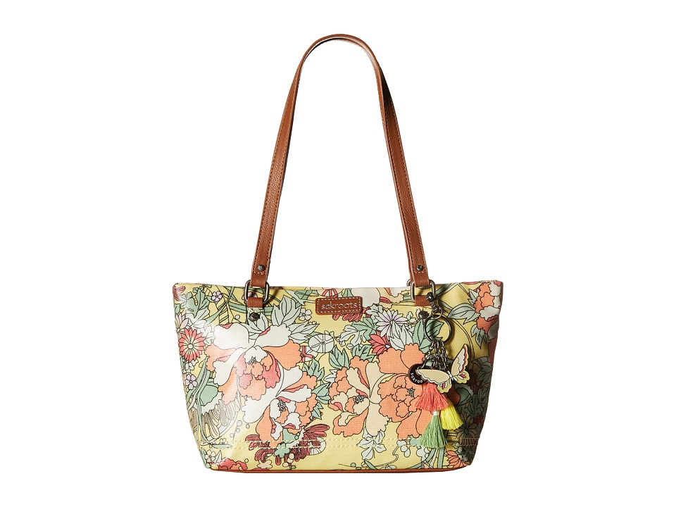 Sakroots - Artist Circle Small Satchel (Sunlight Flower Power) Tote Handbags