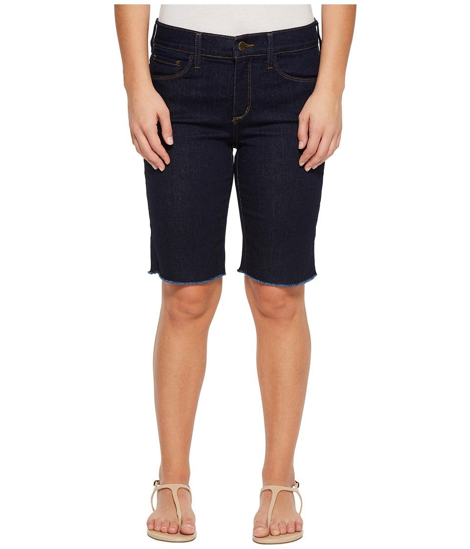 NYDJ Petite - Petite Briella Shorts w/ Fray Hem in Rinse (Rinse) Womens Shorts