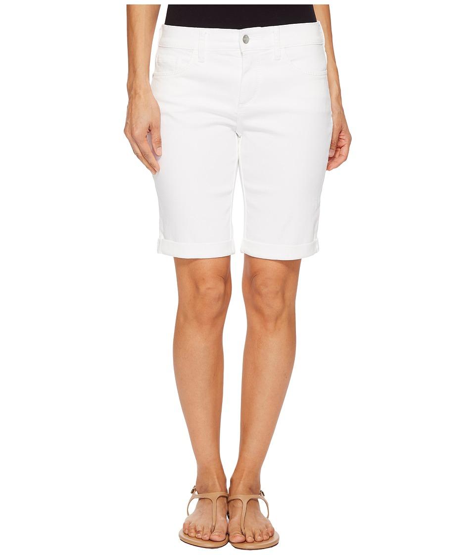 NYDJ Petite - Petite Briella Roll Cuff Shorts in Optic White (Optic White) Womens Shorts