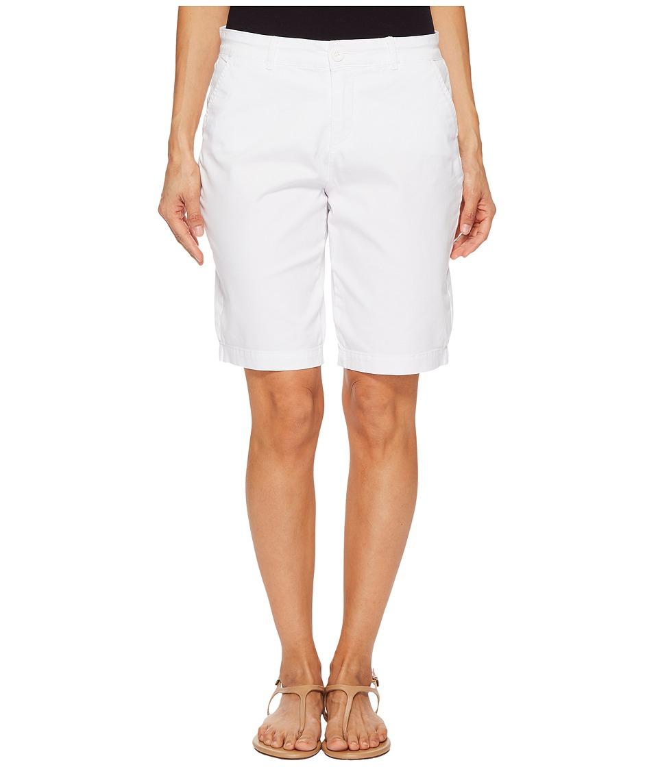 NYDJ Petite - Petite Bermuda Shorts in Optic White (Optic White) Womens Shorts