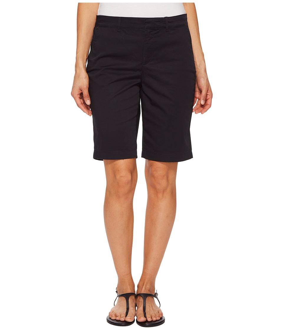 NYDJ Petite - Petite Bermuda Shorts in Black (Black) Womens Shorts