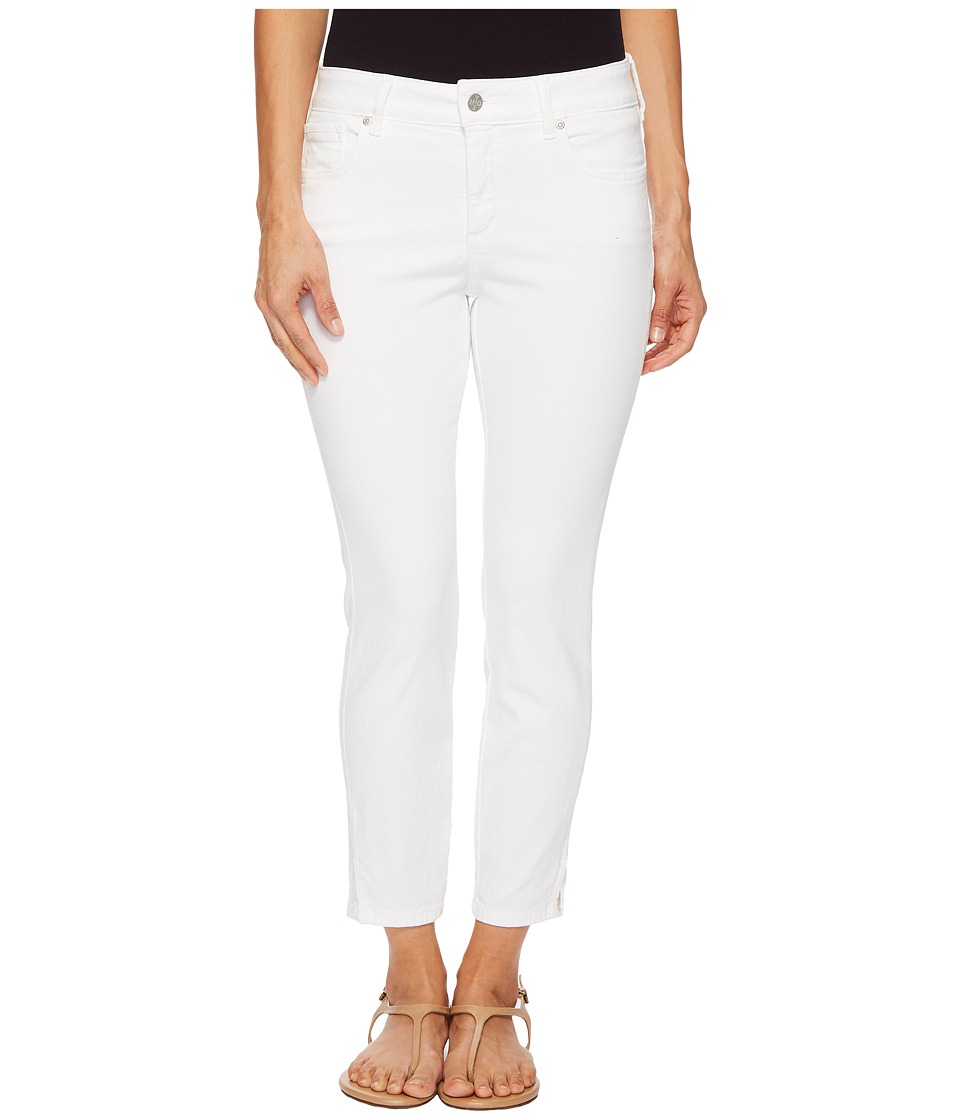 NYDJ Petite - Petite Ami Skinny Ankle w/ Slit Clean in Optic White (Optic White) Womens Jeans