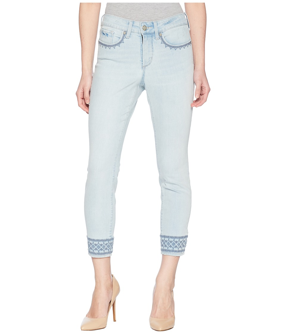 NYDJ Petite - Petite Ami Skinny Ankle w/ Border Embroidered in Palm Desert (Palm Desert) Womens Jeans
